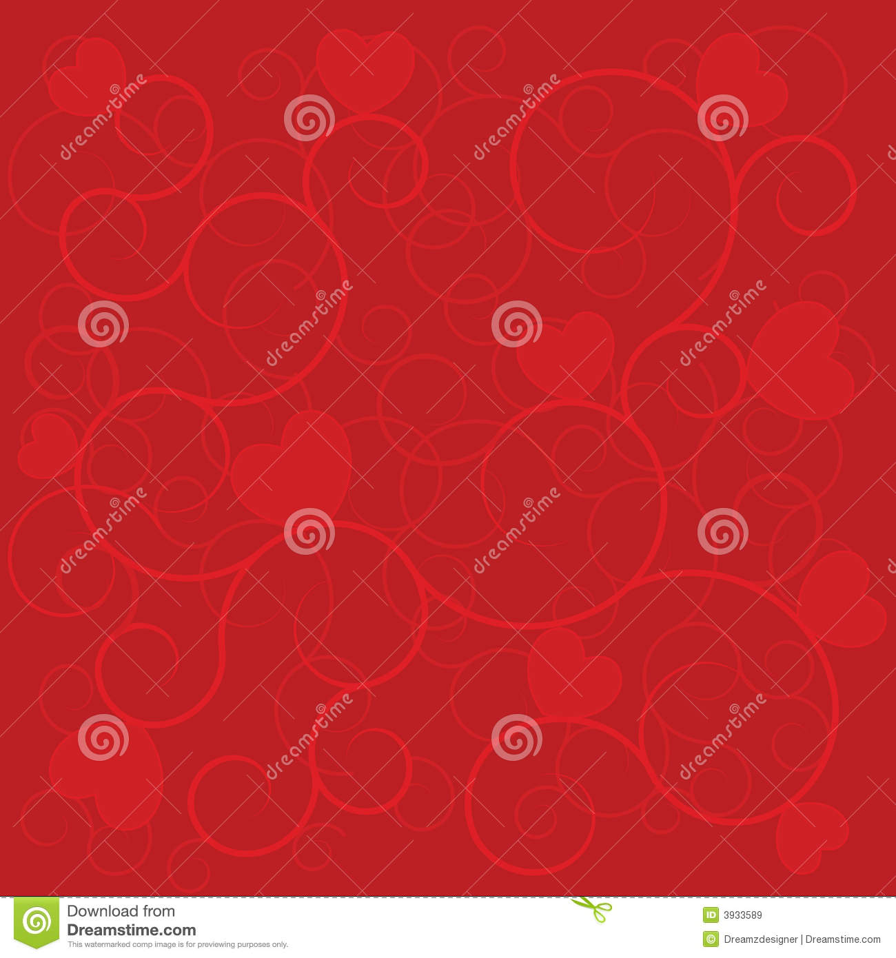 Wedding Background Red Hearts Stock Vector - Illustration of lovely ...