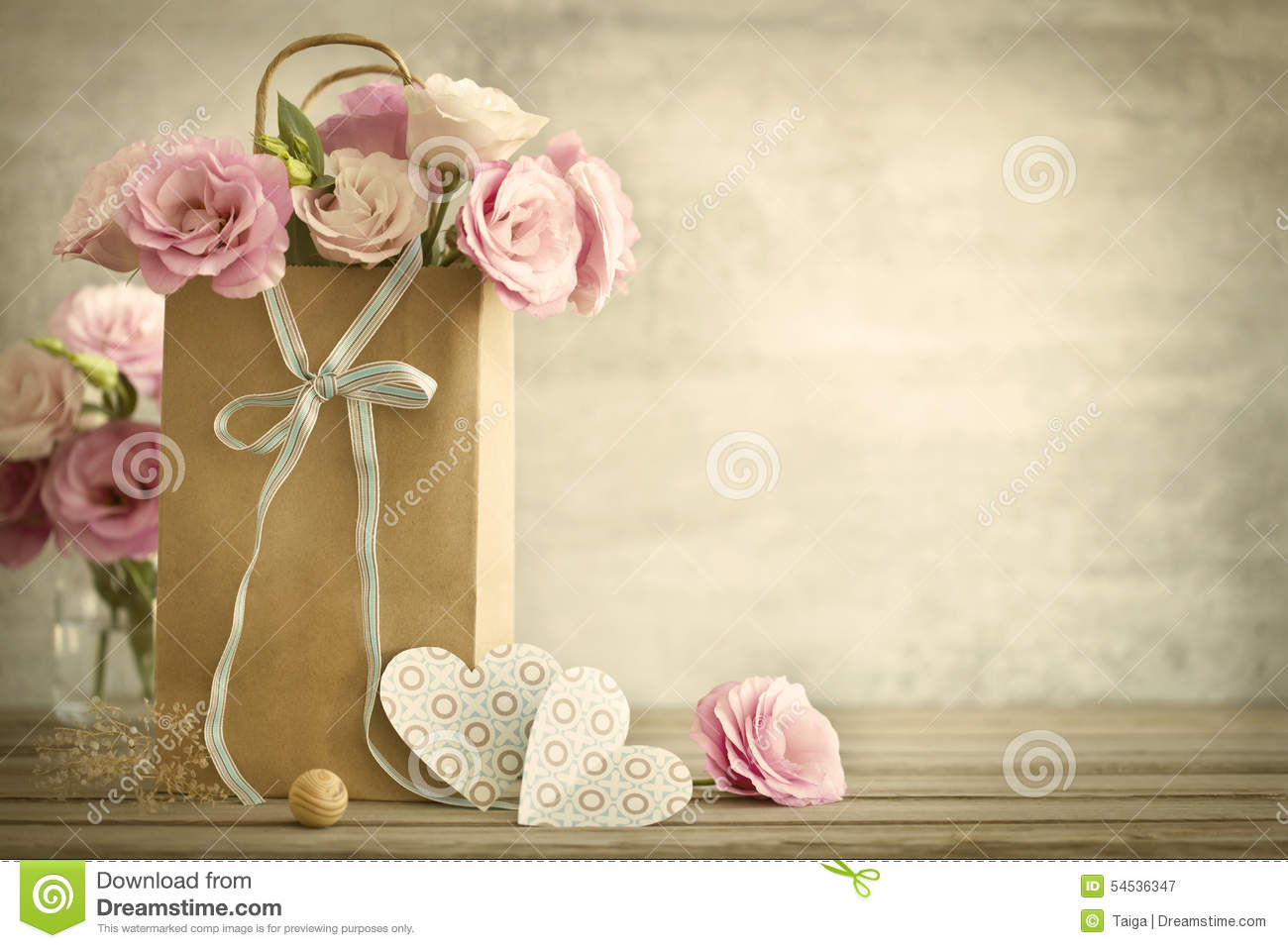 wedding background with roses flowers and hearts vintage styl stock image image of flora floral 54536347 dreamstime com