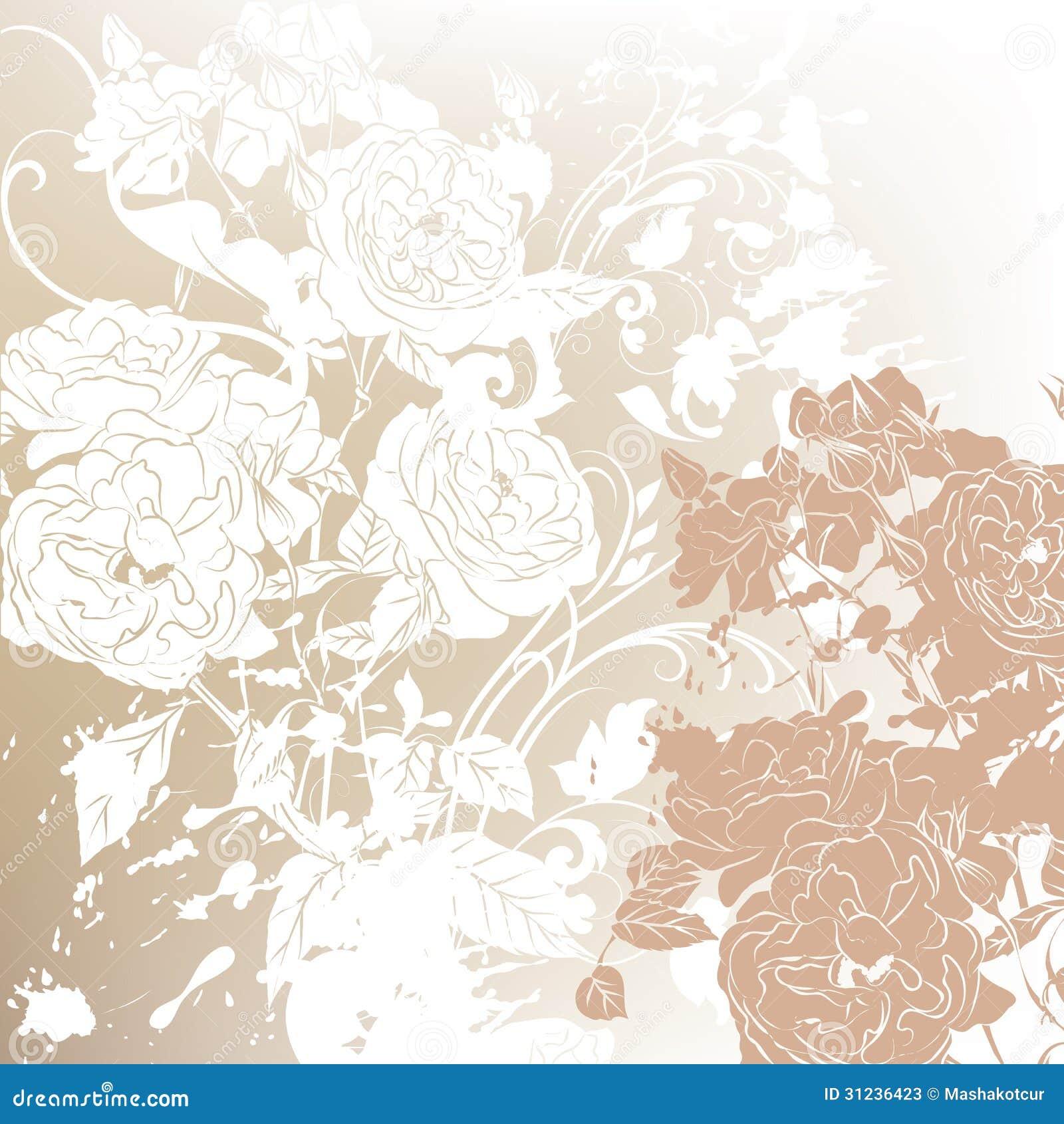 rose wedding invitation background - photo #39