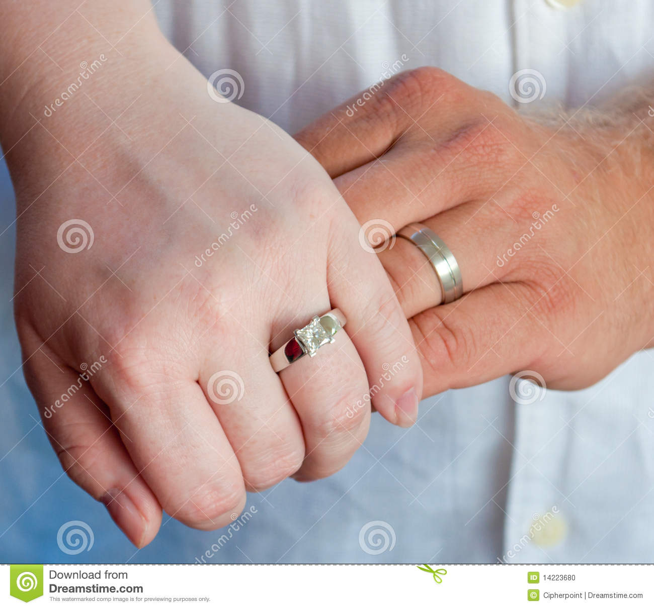 Wedding Band Hands stock photo. Image of marriage, bridal - 14223680