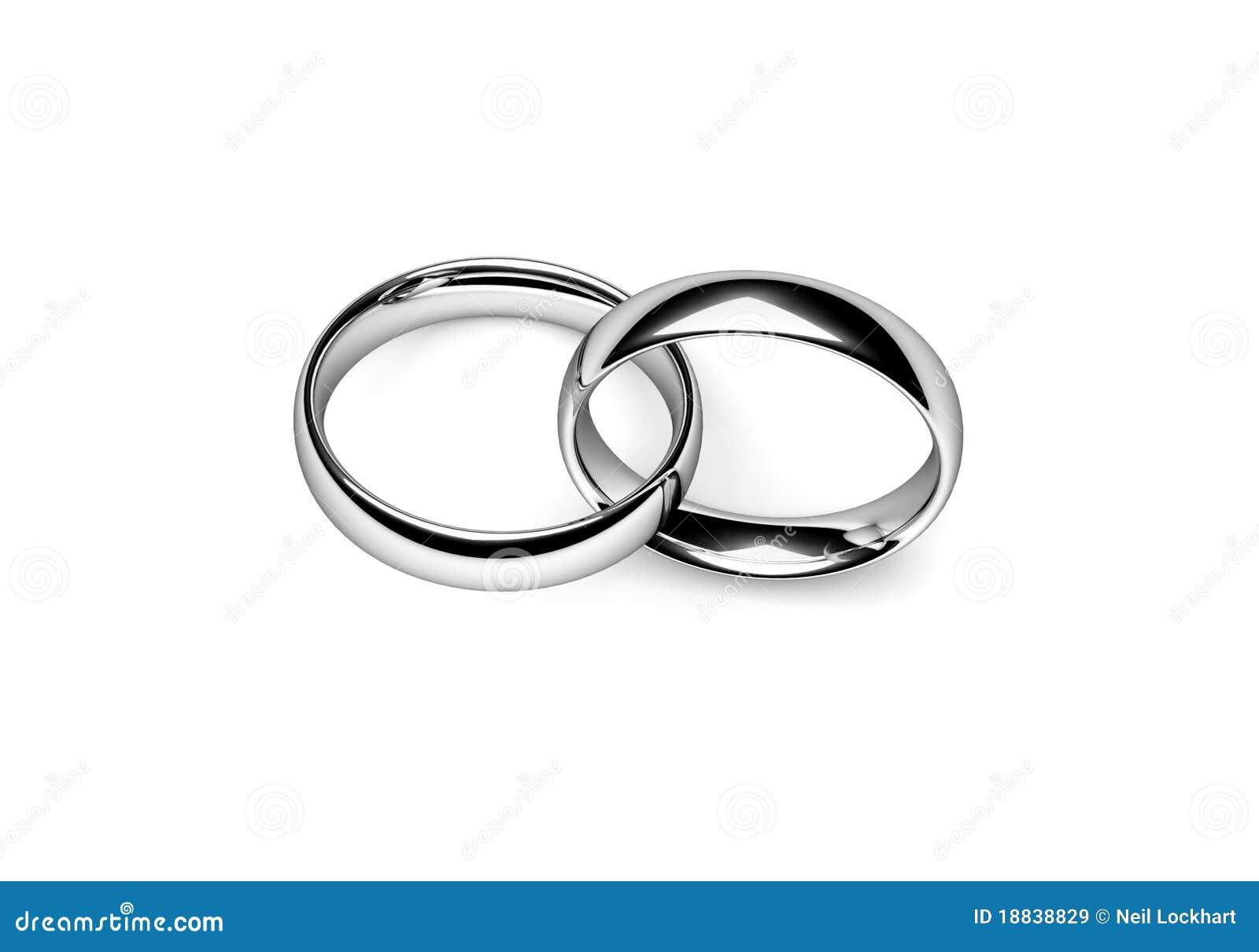 Interlocking Wedding Rings.Wedding Bands Stock Illustration Illustration Of White