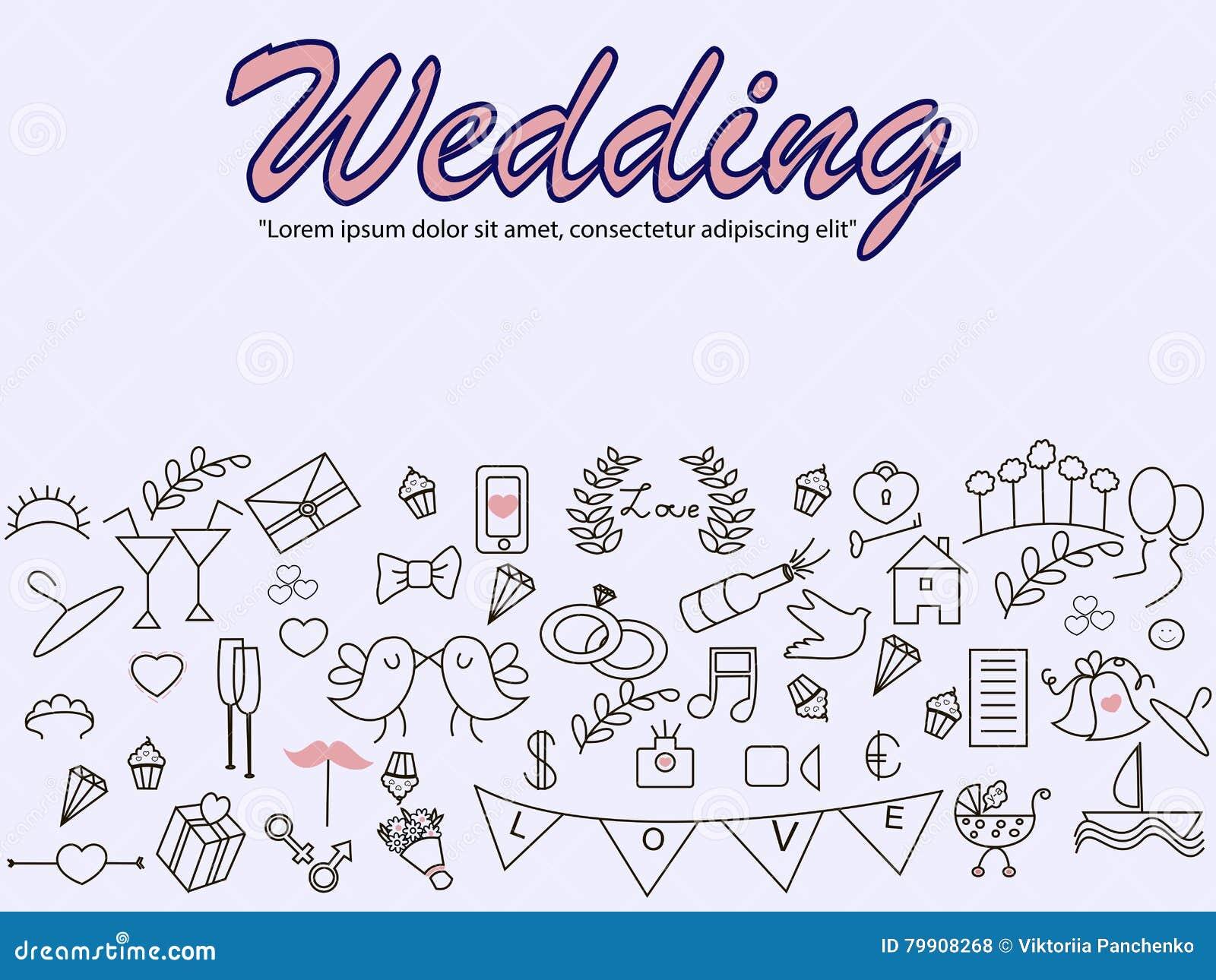 wedding banner vector illustration stock vector illustration of