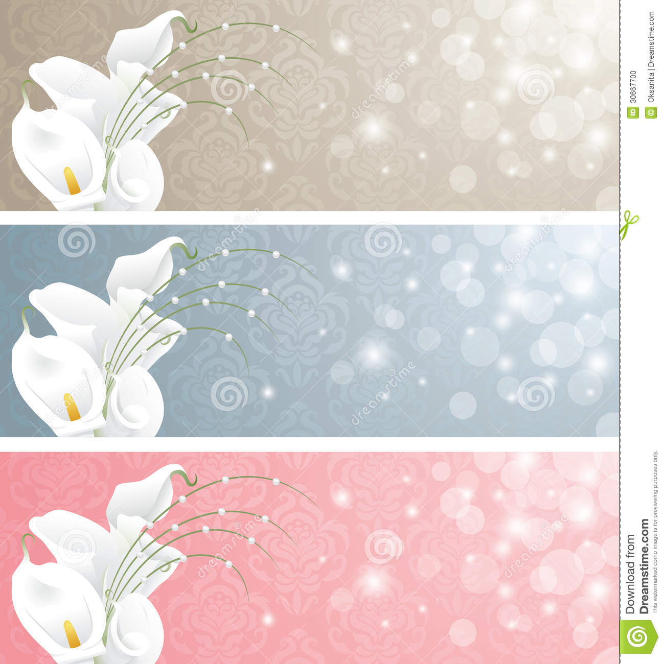 Wedding Banners Stock Photo Image 30667700