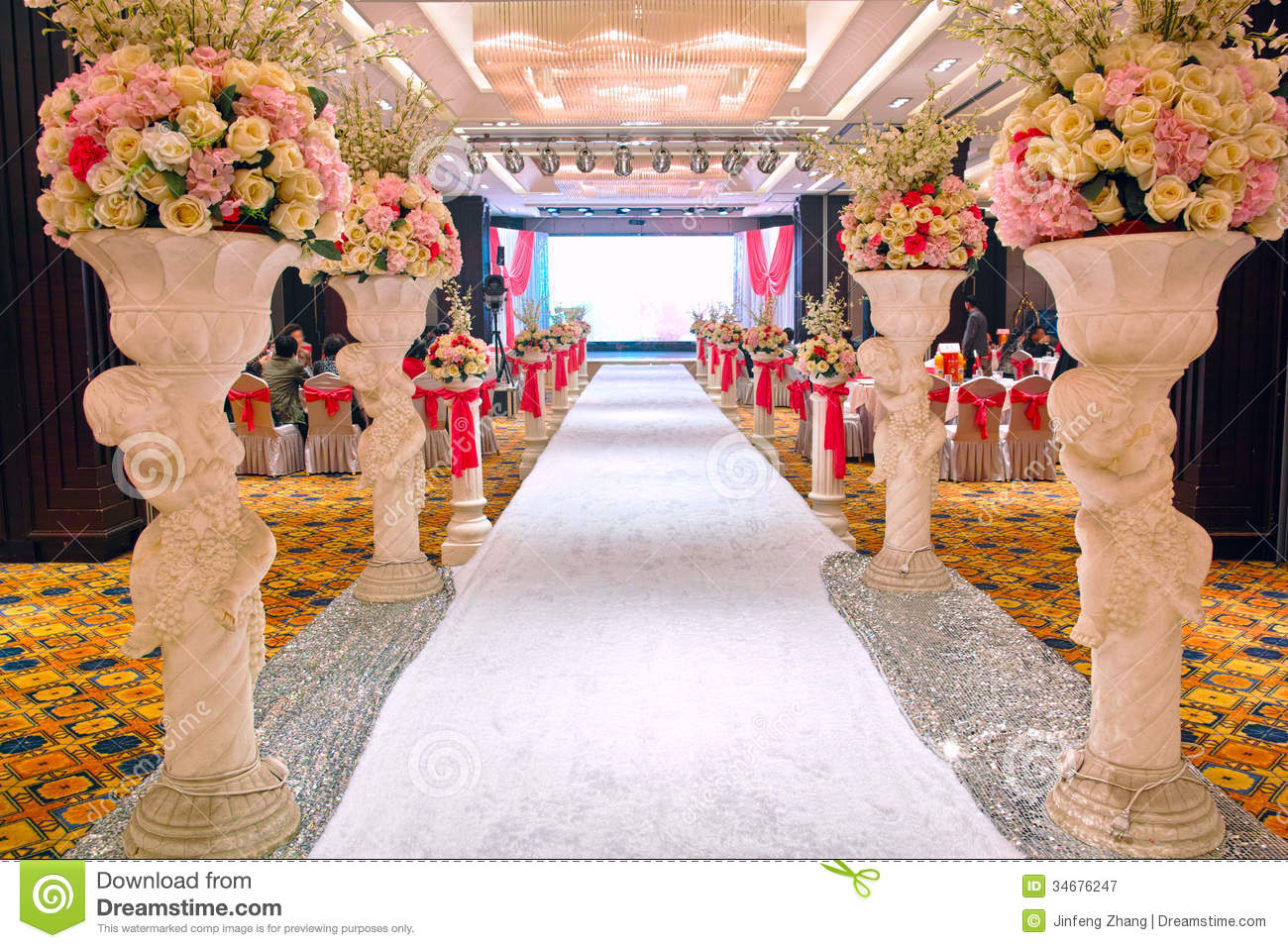 Wedding Banquet Hall Royalty Free Stock Photography
