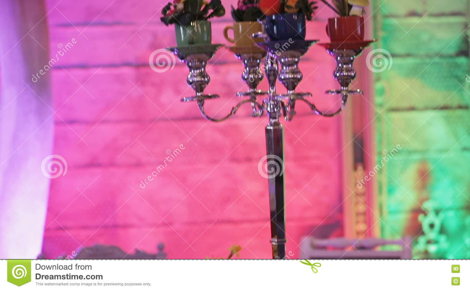 Wedding Banquet Hall Interior. Stock Video - Video of curtain, decor ...
