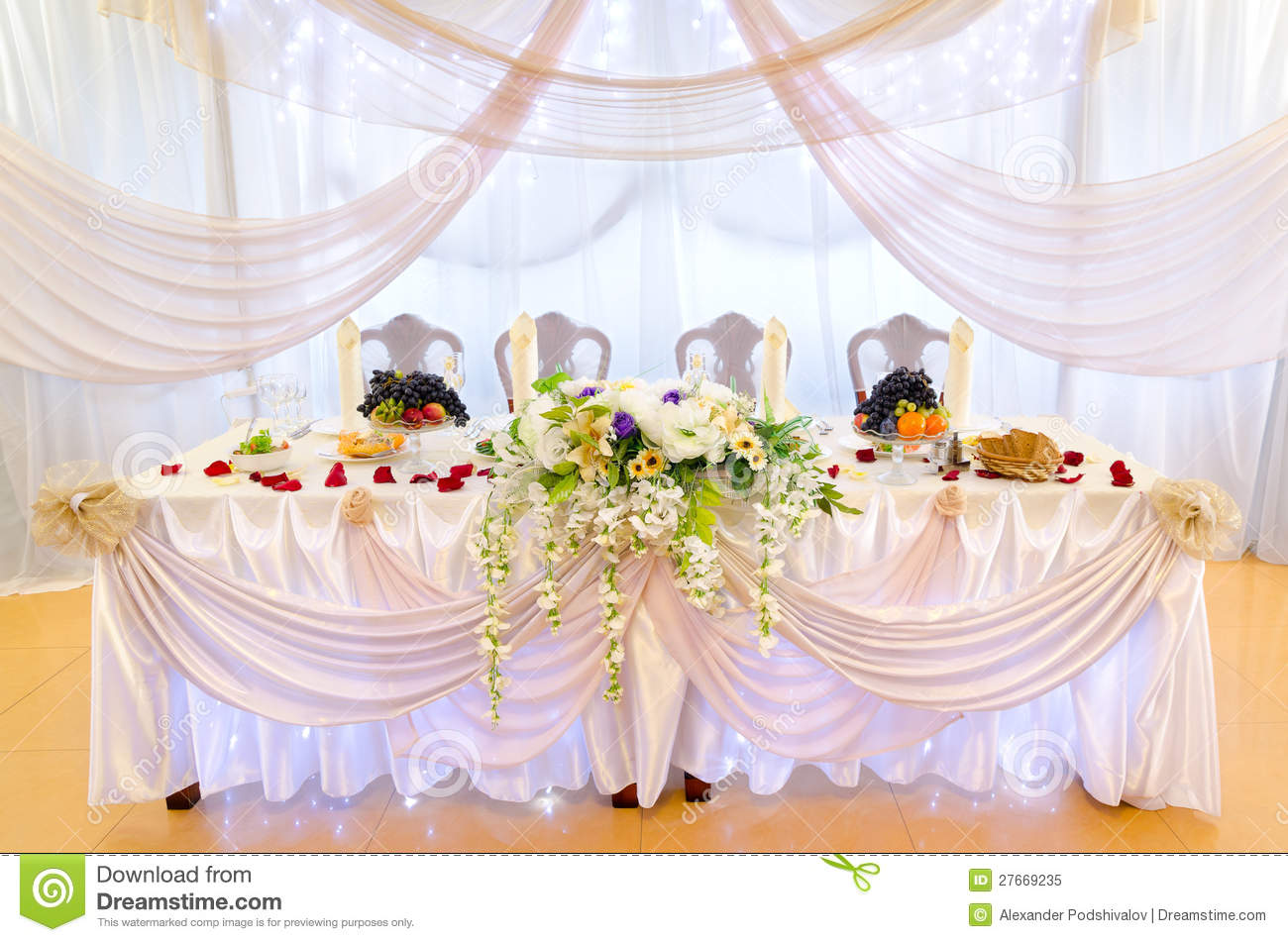 Wedding Banquet Table Royalty Free Stock Photo Image 27669235