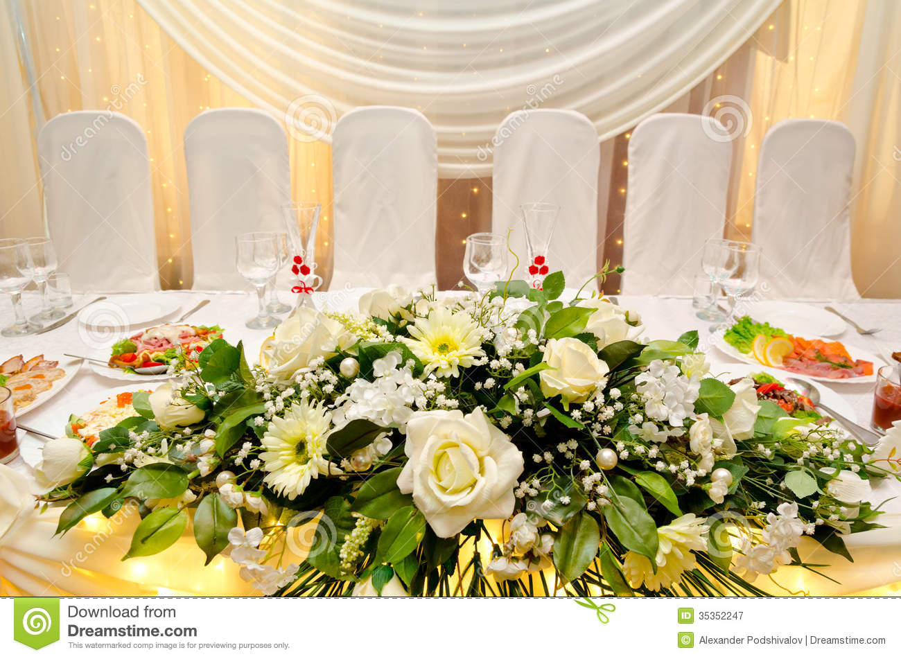 Wedding Banquet Table Royalty Free Stock Photography
