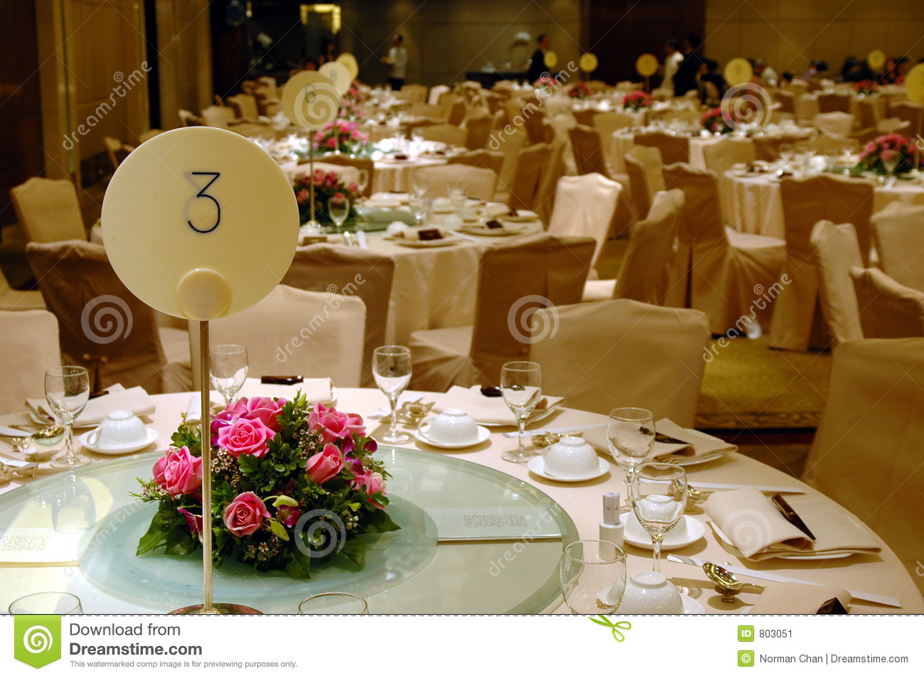 Wedding Banquet Table Setting Stock Image Image 803051