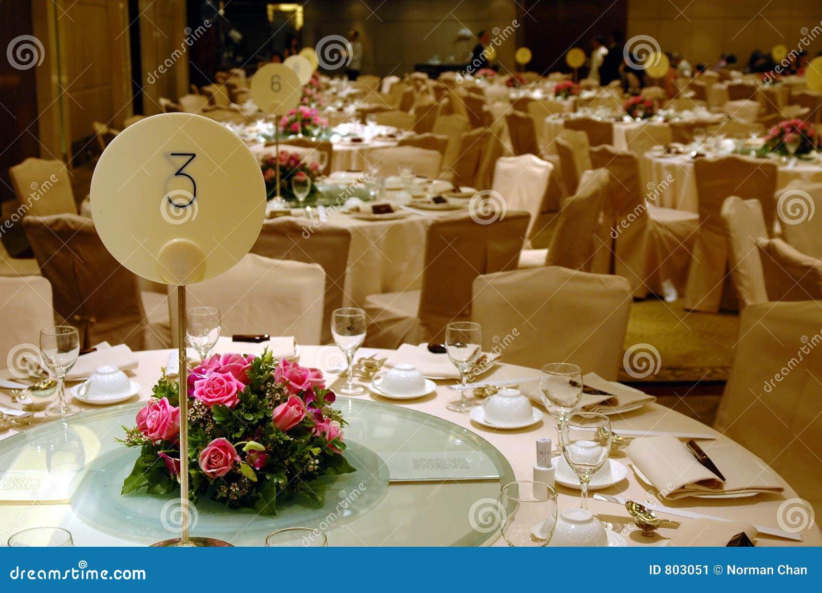 Wedding Banquet Table Setting Stock Image Image 803051