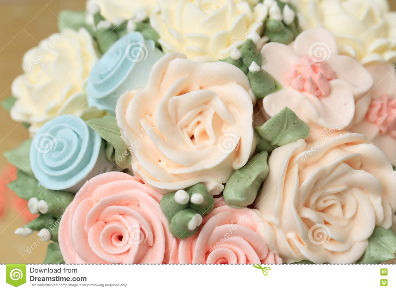 Wedding or birthday cake decorated with flowers made from cream wedding or birthday cake decorated with flowers made from cream izmirmasajfo