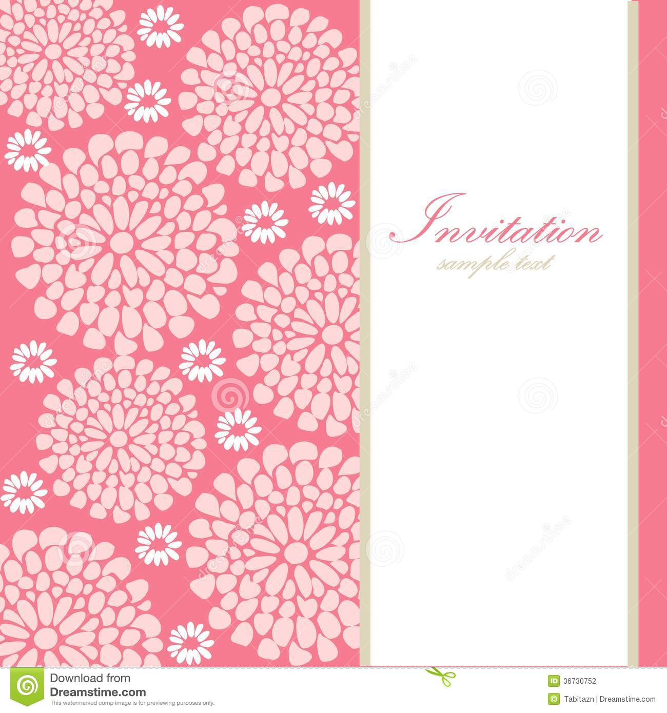Wedding Birthday Card Or Invitation With Abstract Stock ...