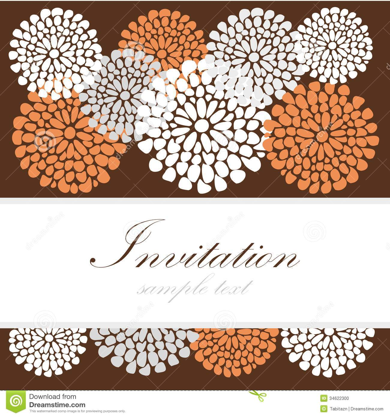 Wedding Birthday Card Or Invitation With Abstract Lace Floral ...