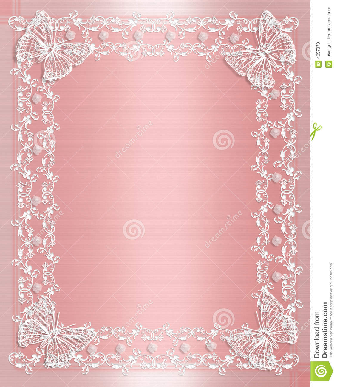 Wedding Invitation Valentine Birthday Or Anniversary Background Of Pink Satin And Illustrated Lace Butterflies With Copy Space: Lace Wedding Invite Backgrounds At Reisefeber.org