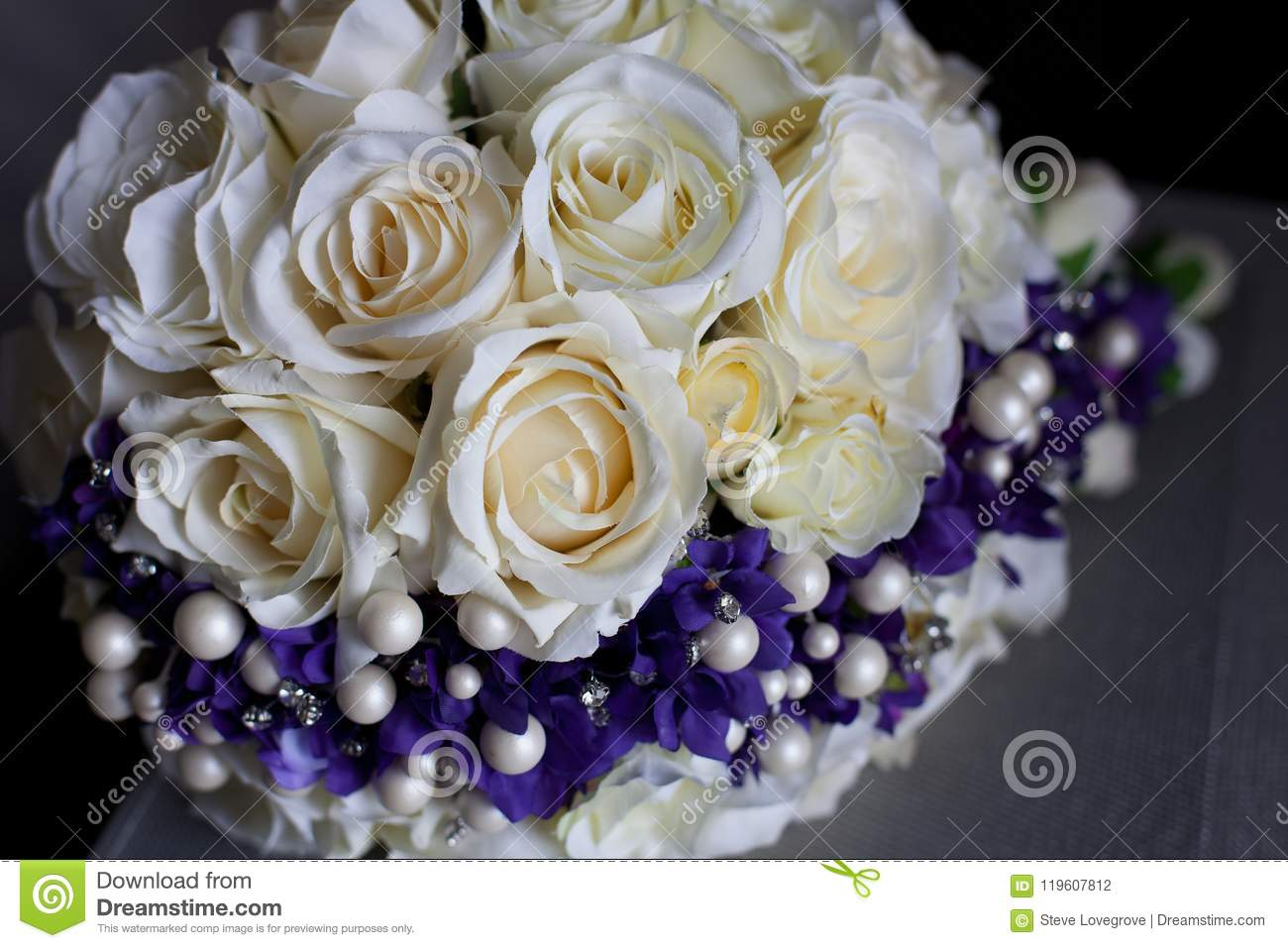 Wedding bouquet of artificial flowers stock photo image of bridal bouquet of artificial white rose flowers for a wedding izmirmasajfo