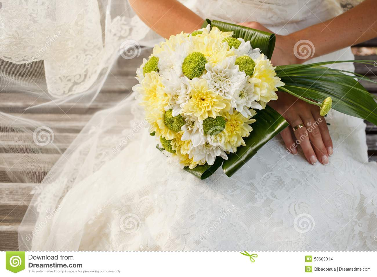 wedding bouquet of chrysanthemum flowers stock photo  image, Beautiful flower