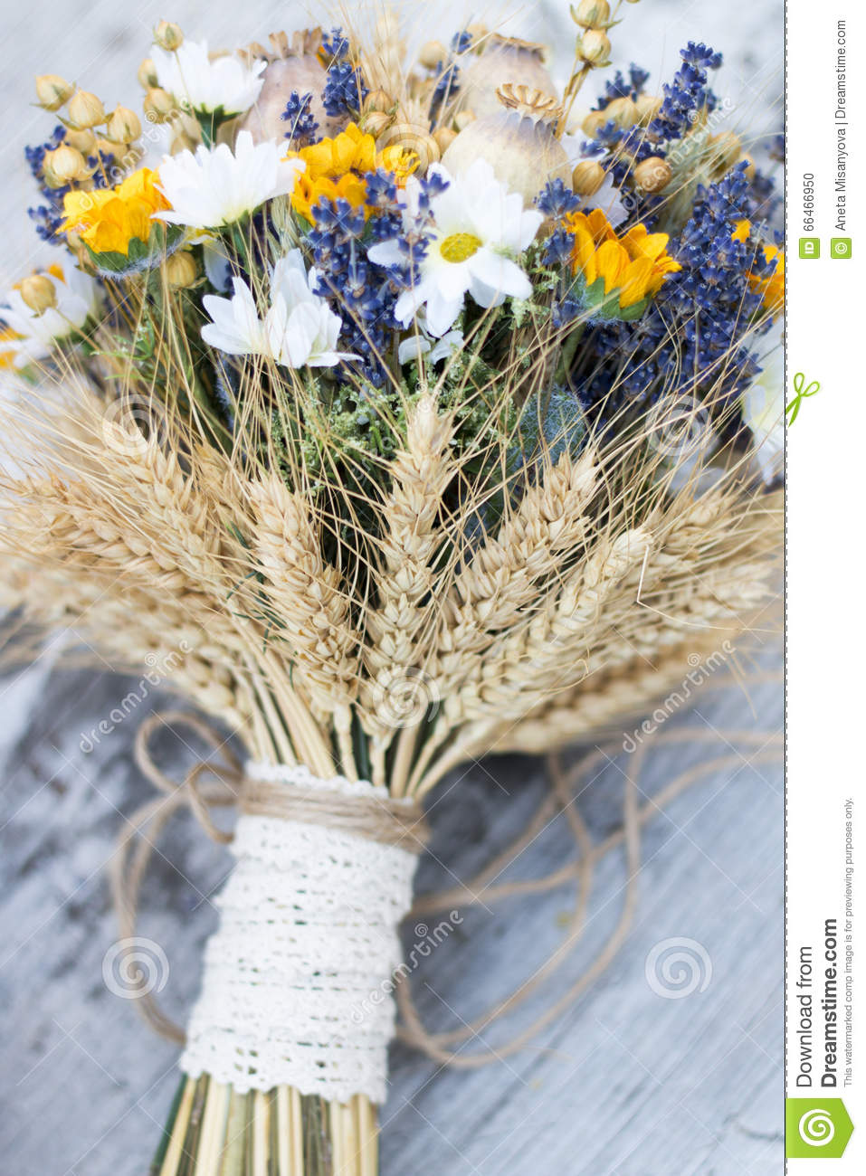 Wedding Bouquet Of Dry Flowers Stock Photo - Image of bunch, floral ...