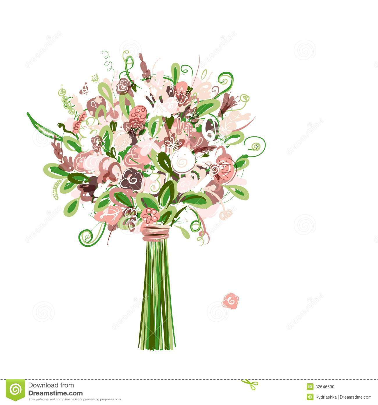 Wedding bouquet floral for your design. This is file of EPS10 format.