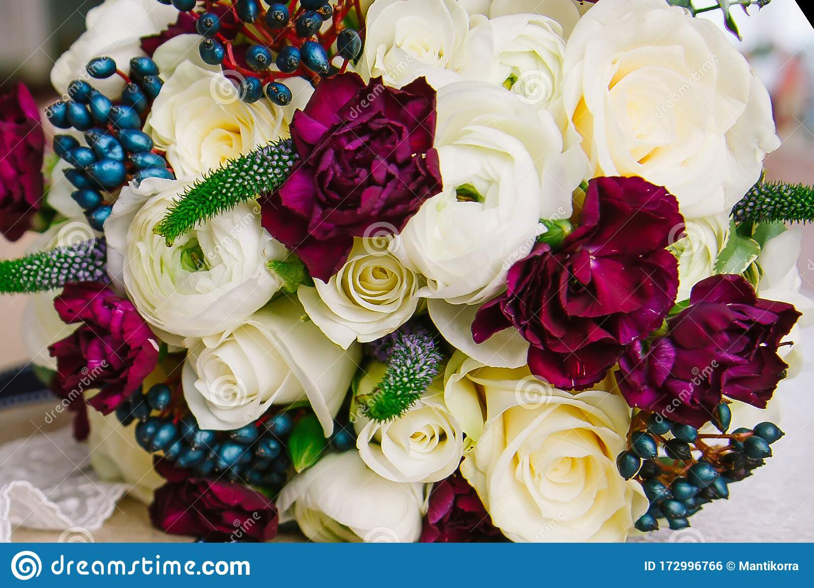 Wedding Bouquet Of Flowers From Roses And Peonies Stock Photo Image Of Ceremony Closeup 172996766