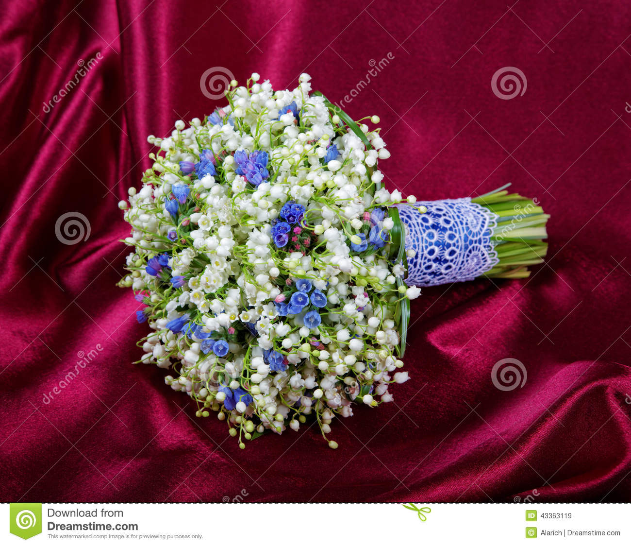 Lily Of The Valley Wedding Flowers: Wedding Bouquet From Lilies Of The Valley Stock Image