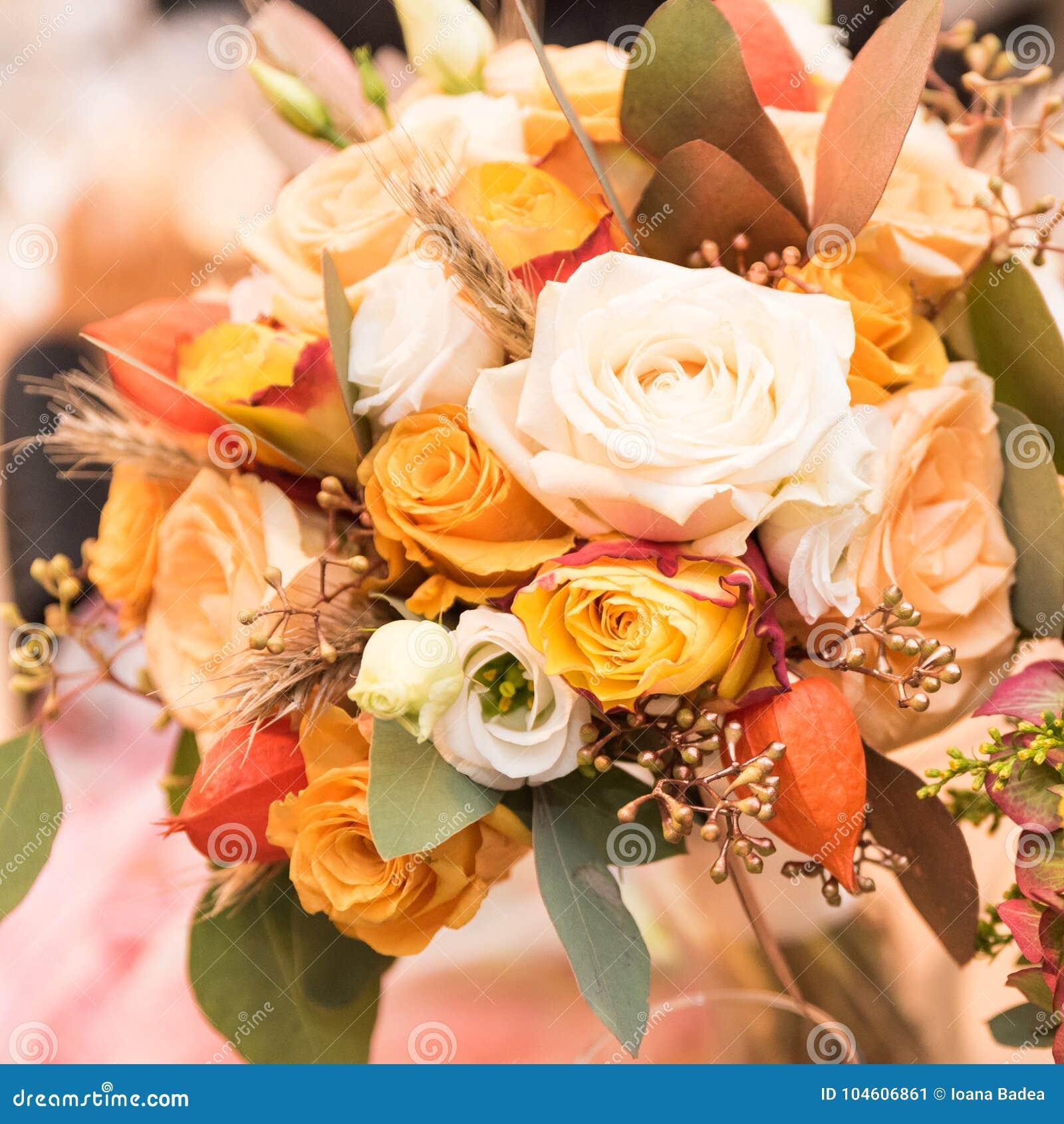 Wedding Flower Bouquet Decoration Stock Image Image Of Light