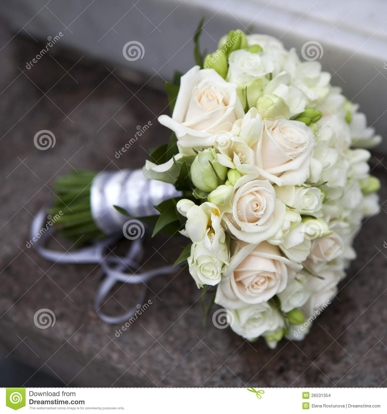 Wedding Bouquet Of Pink And White Roses Stock Photo Image Of