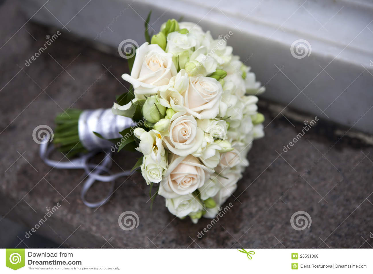 Wedding bouquet of pink and white roses stock photo for Images of bouquets of roses