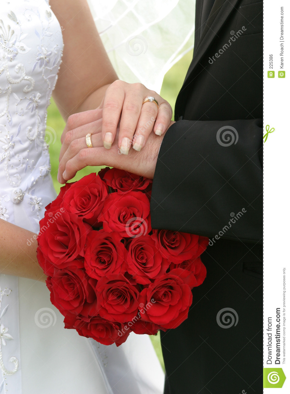 Download Wedding bouquet and rings stock photo. Image of people - 225386