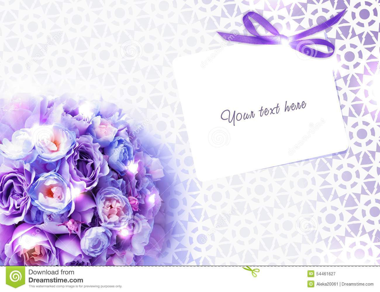 Wedding Bouquet Of Roses And An Invitation Card With Lace – An Invitation Card