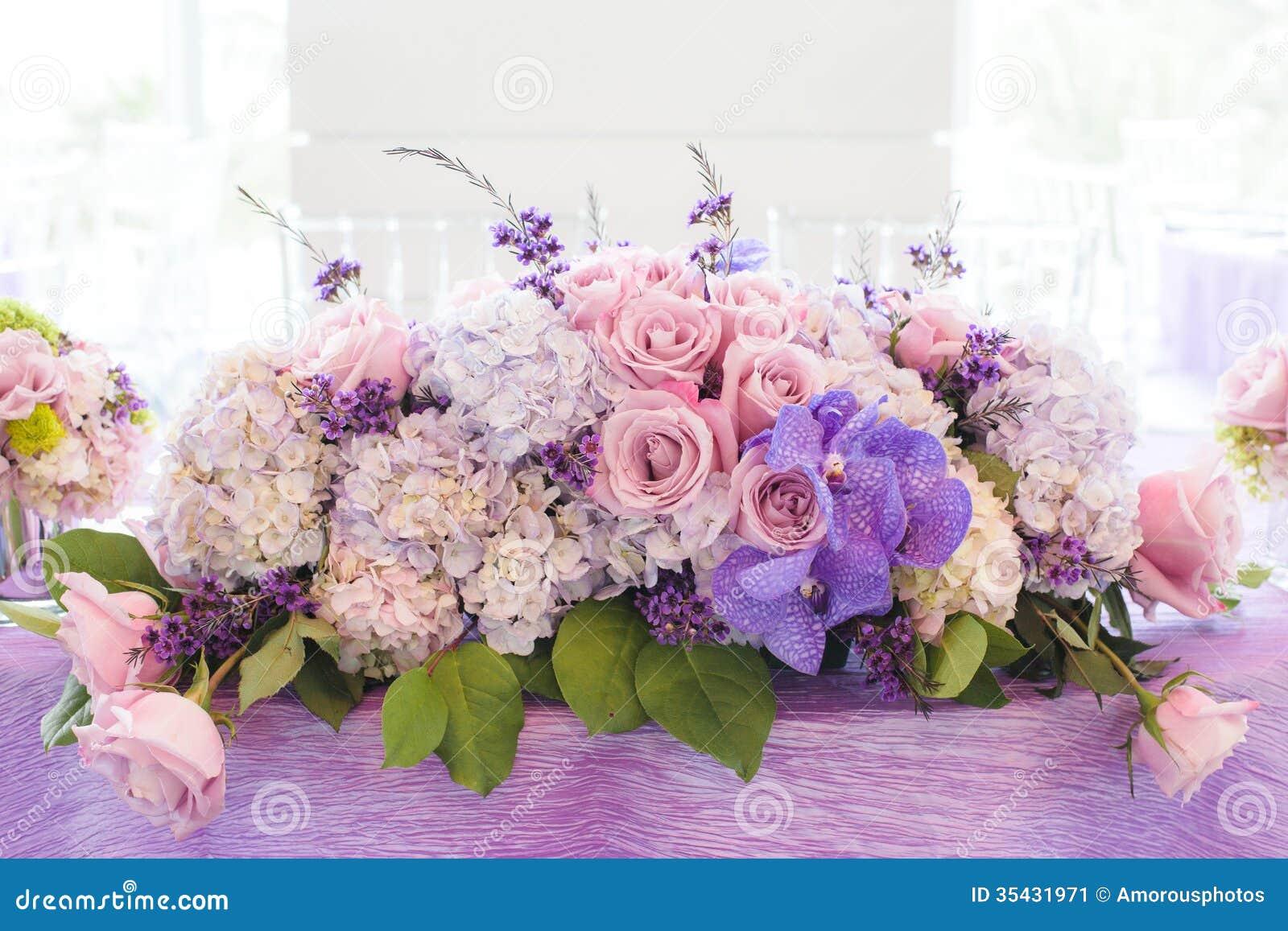 wedding bouquet on table stock image image of details 35431971. Black Bedroom Furniture Sets. Home Design Ideas