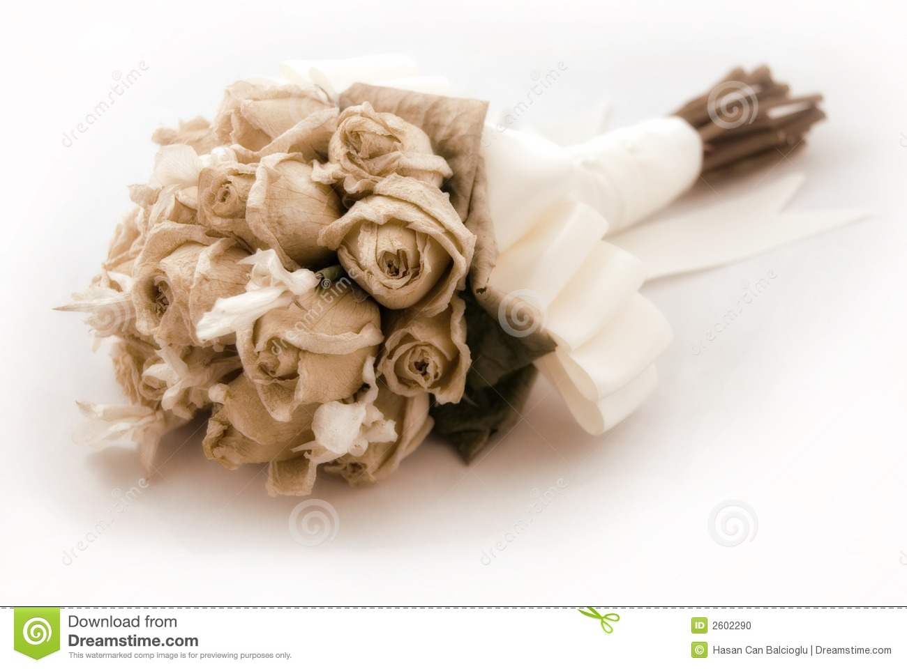 dried wedding bouquets