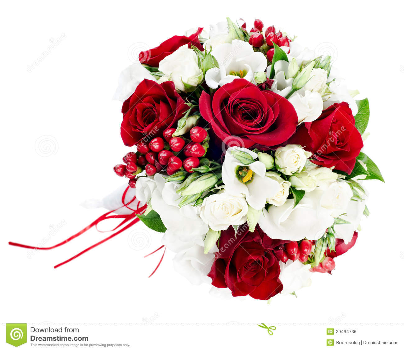 wedding bouquet from white and red roses stock photo image of green bright 29494736. Black Bedroom Furniture Sets. Home Design Ideas