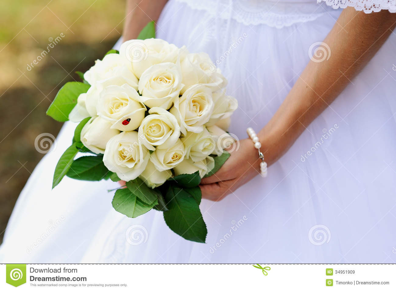 Wedding Bouquet Of White Roses Wedding bouquet of white roses