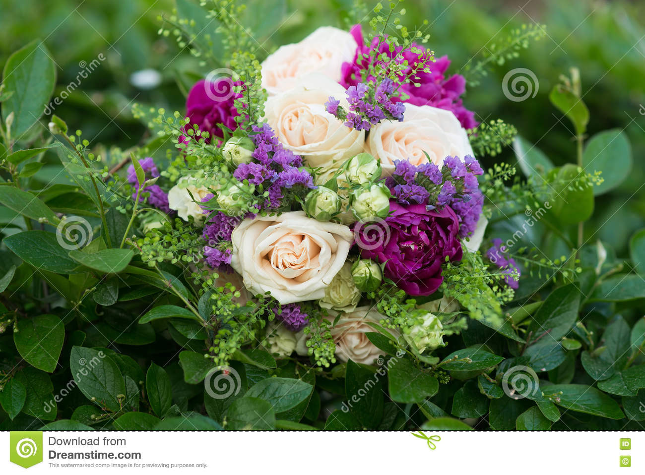 beautiful wedding flowers beautiful wedding bouquet of roses and peony royalty free 1614