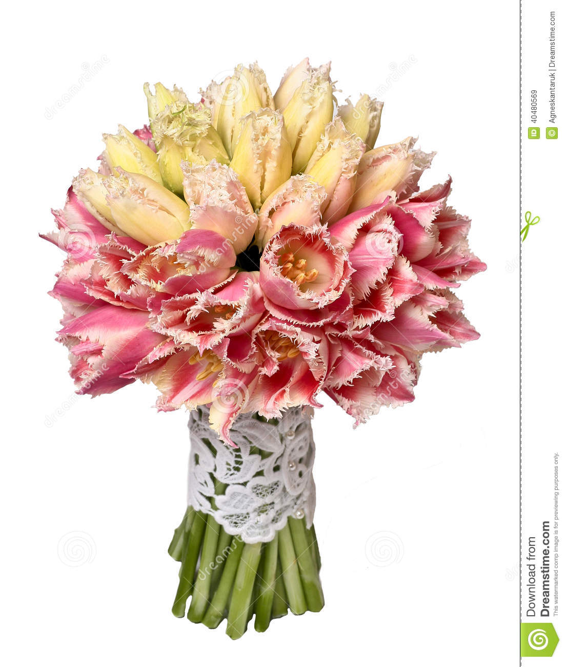 Yellow And Pink Tulip Bouquet