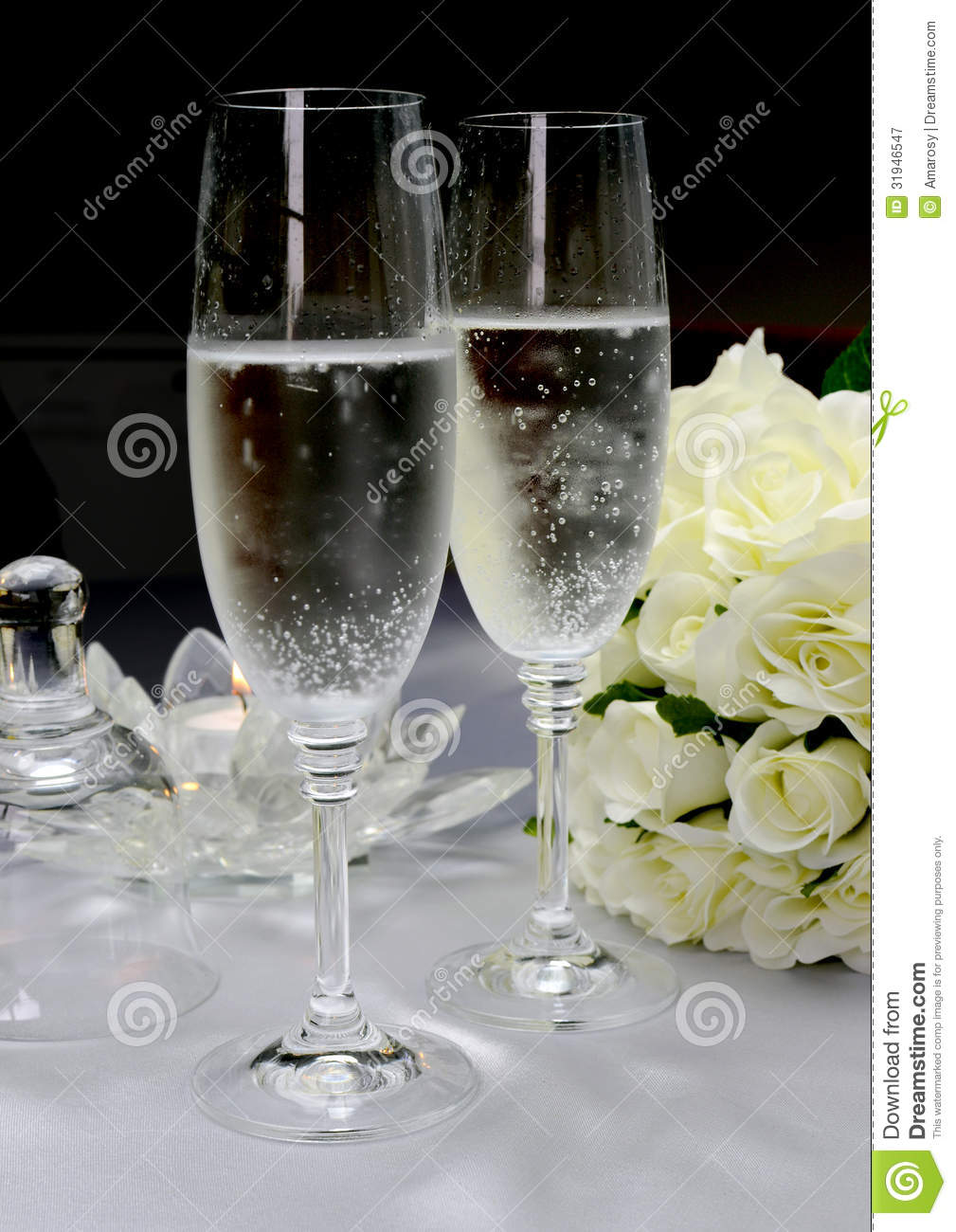 Royalty Free Stock Photography: Wedding breakfast dining table setting ...