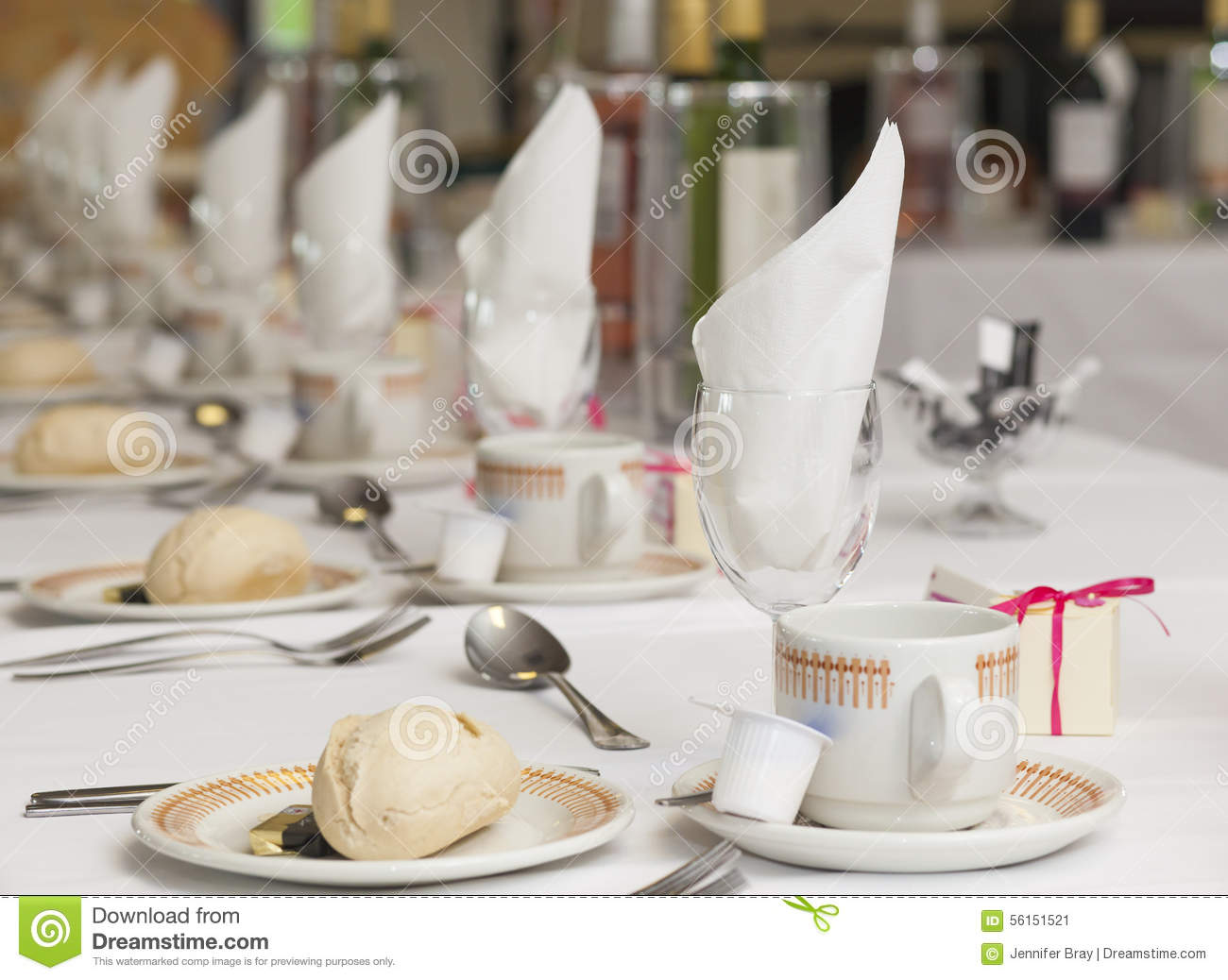Wedding breakfast set up stock image. Image of breakfast - 56151521