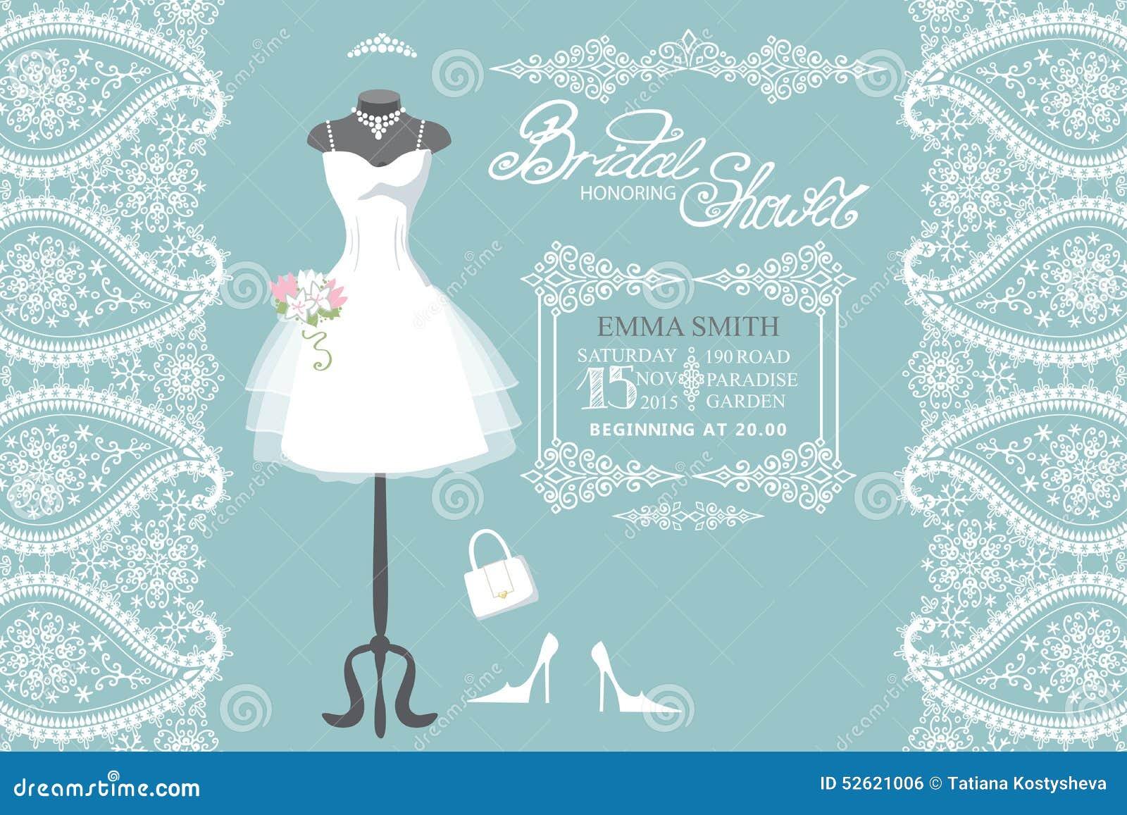 Wedding Bridal Dress With Winter Paisley Border Stock Vector ...