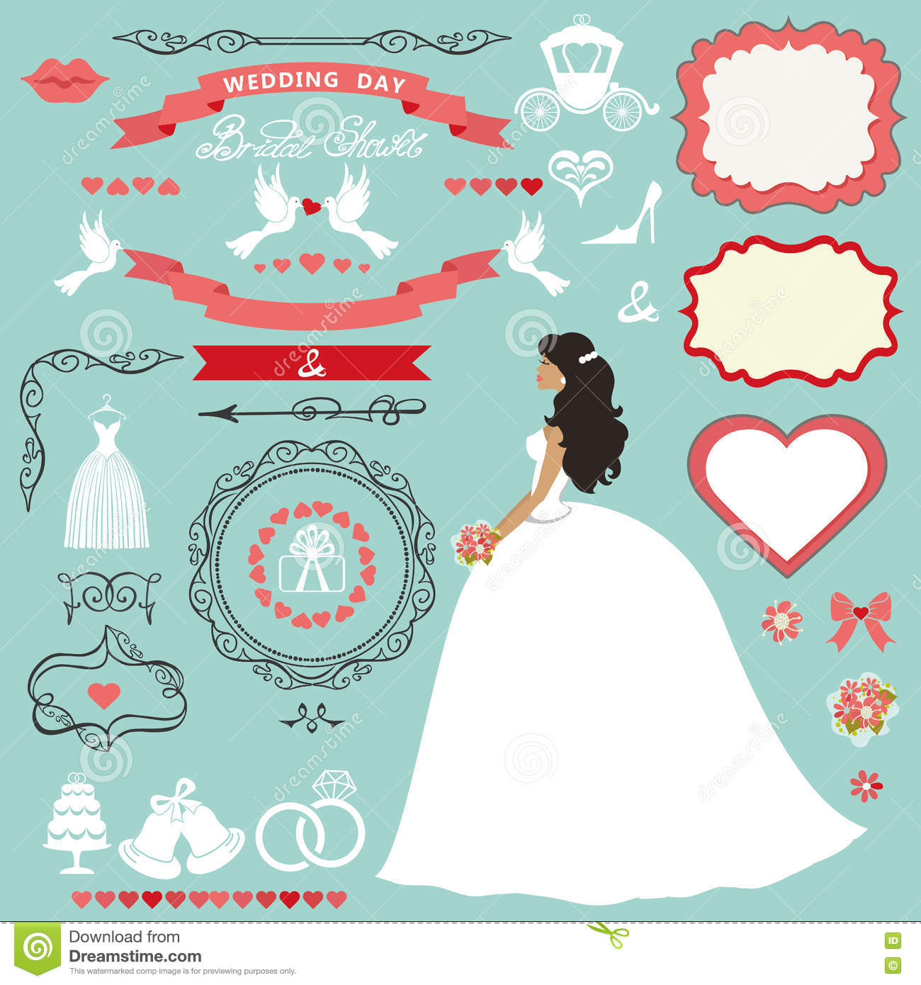 wedding bridal shower decor setbride invitation card