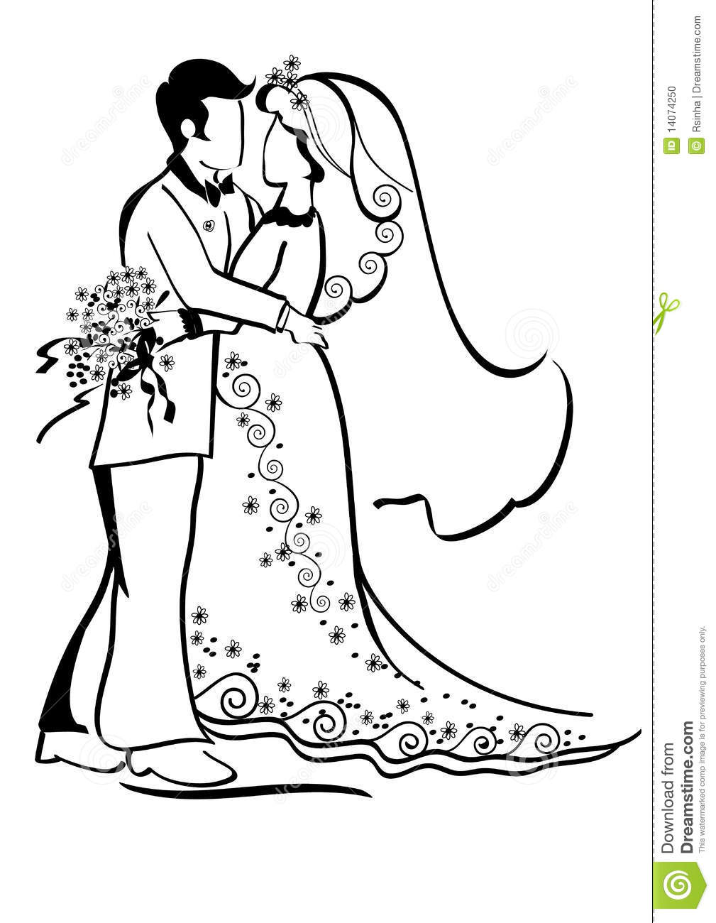 Wedding Bride And Groom Stock Vector Illustration Of