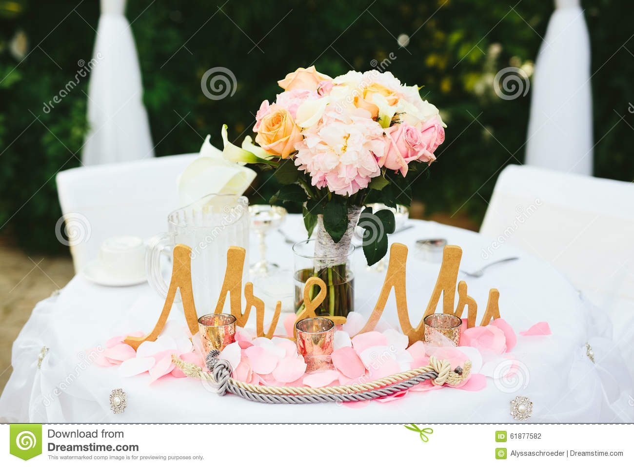 Great Wedding Bride Groom Table