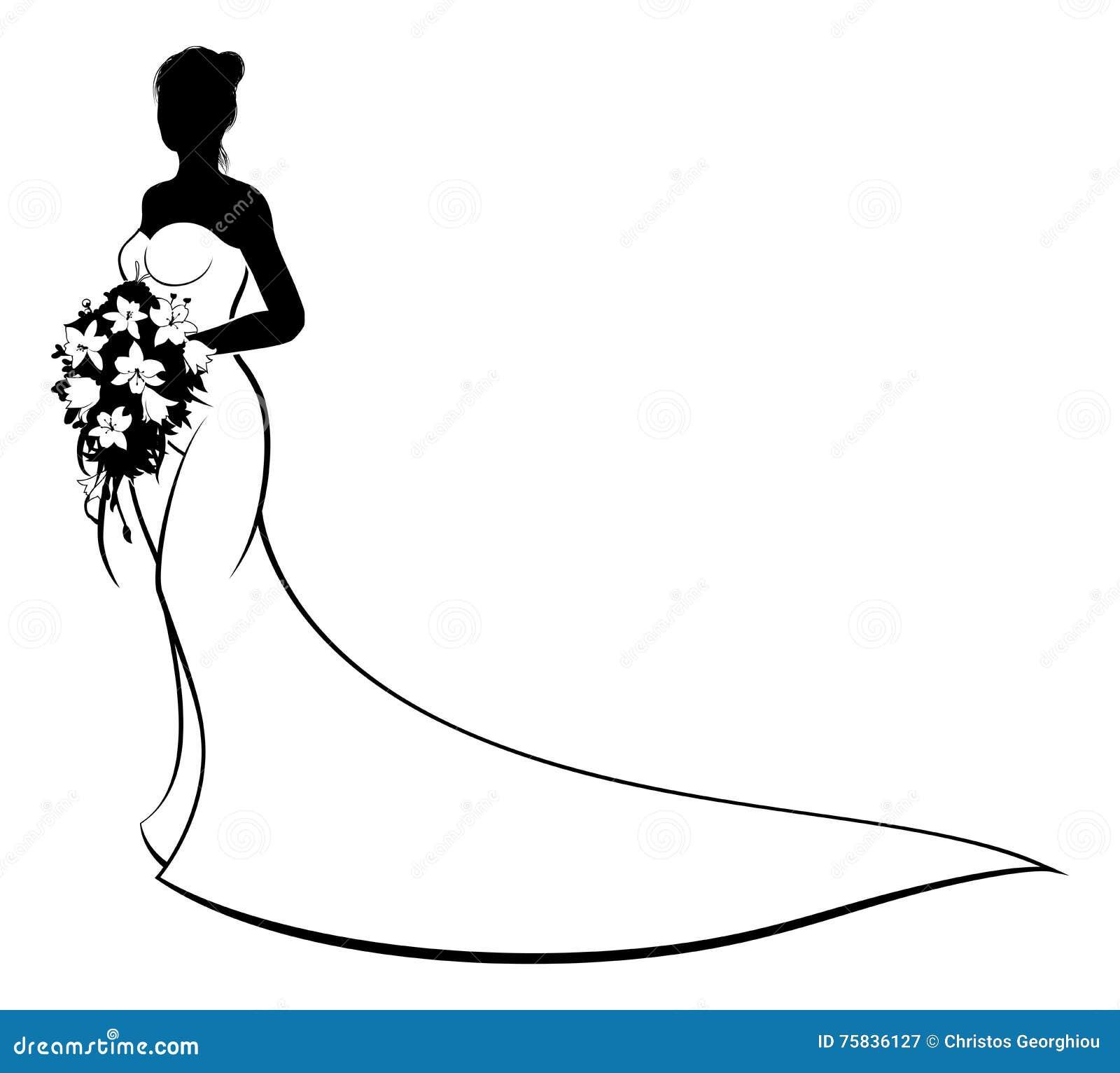 Flowers Clip Art Wedding Dress