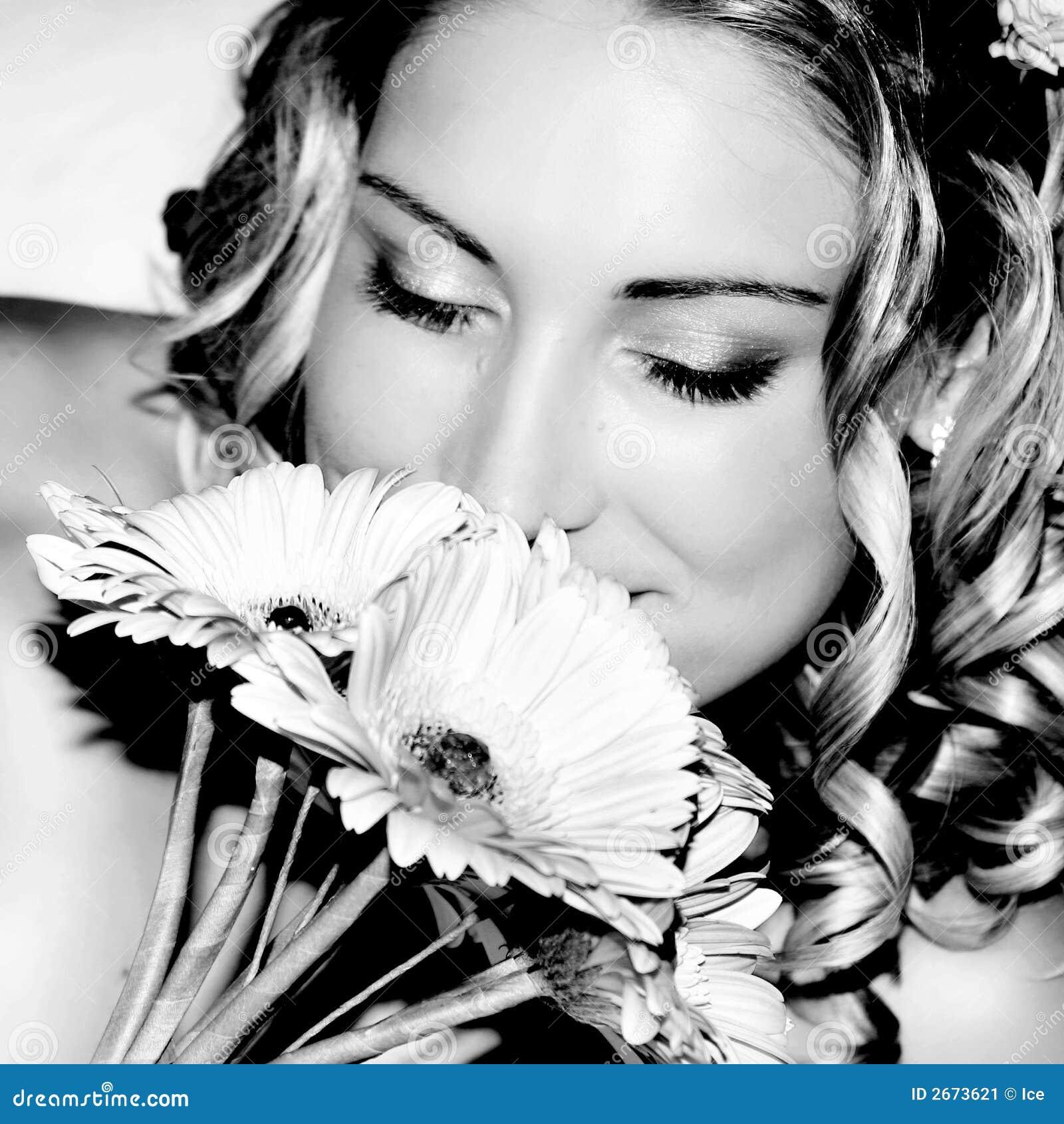 Wedding Bride smelling