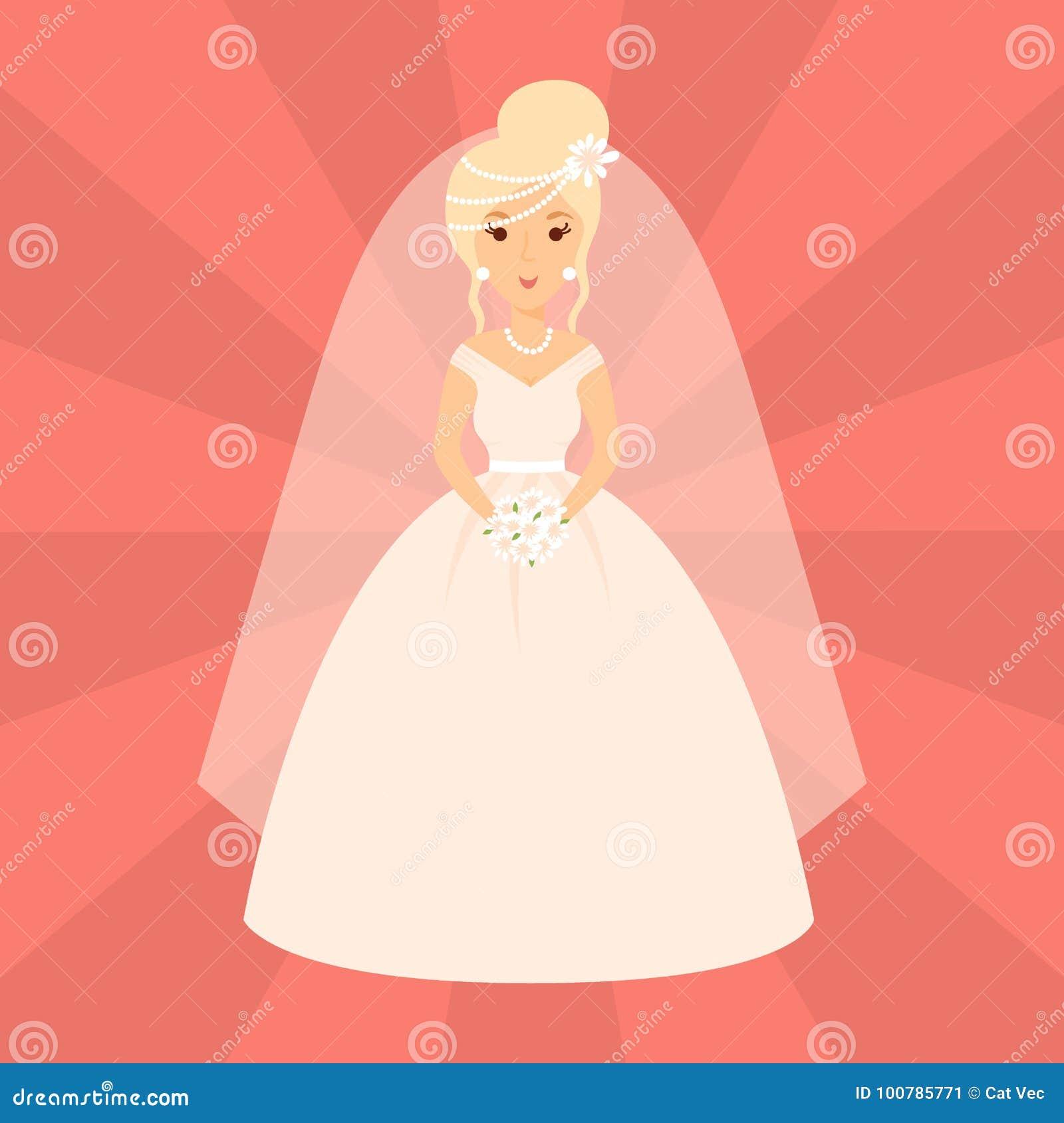 Wedding Cartoon Characters, Vector Vector Illustration ...