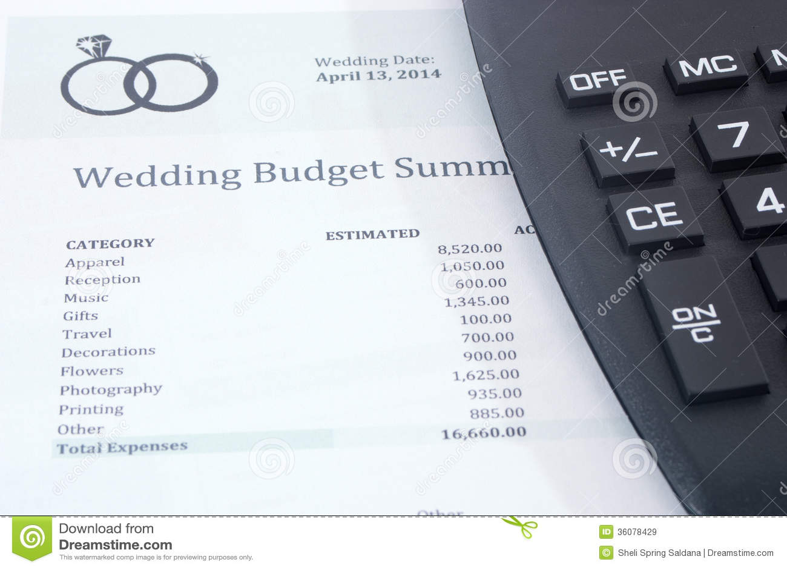wedding planning budget calculator