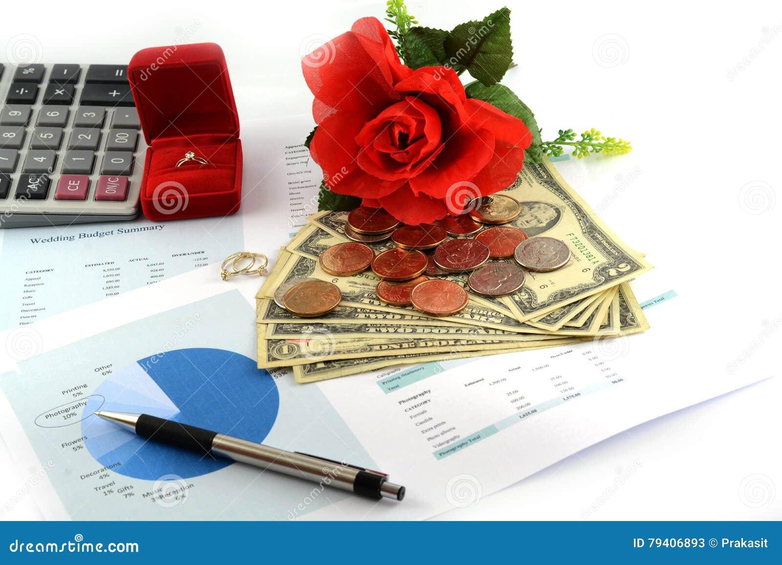 Wedding budget sheet stock image. Image of budget, invitation - 79406893