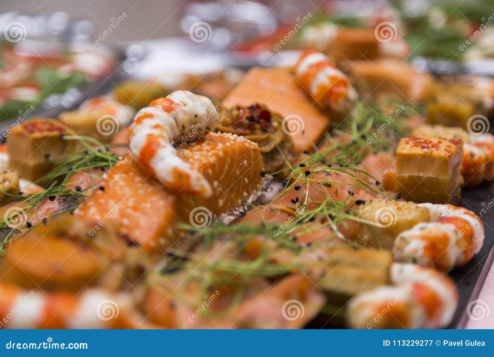 Wedding buffet with Cuisine Culinary Buffet Food