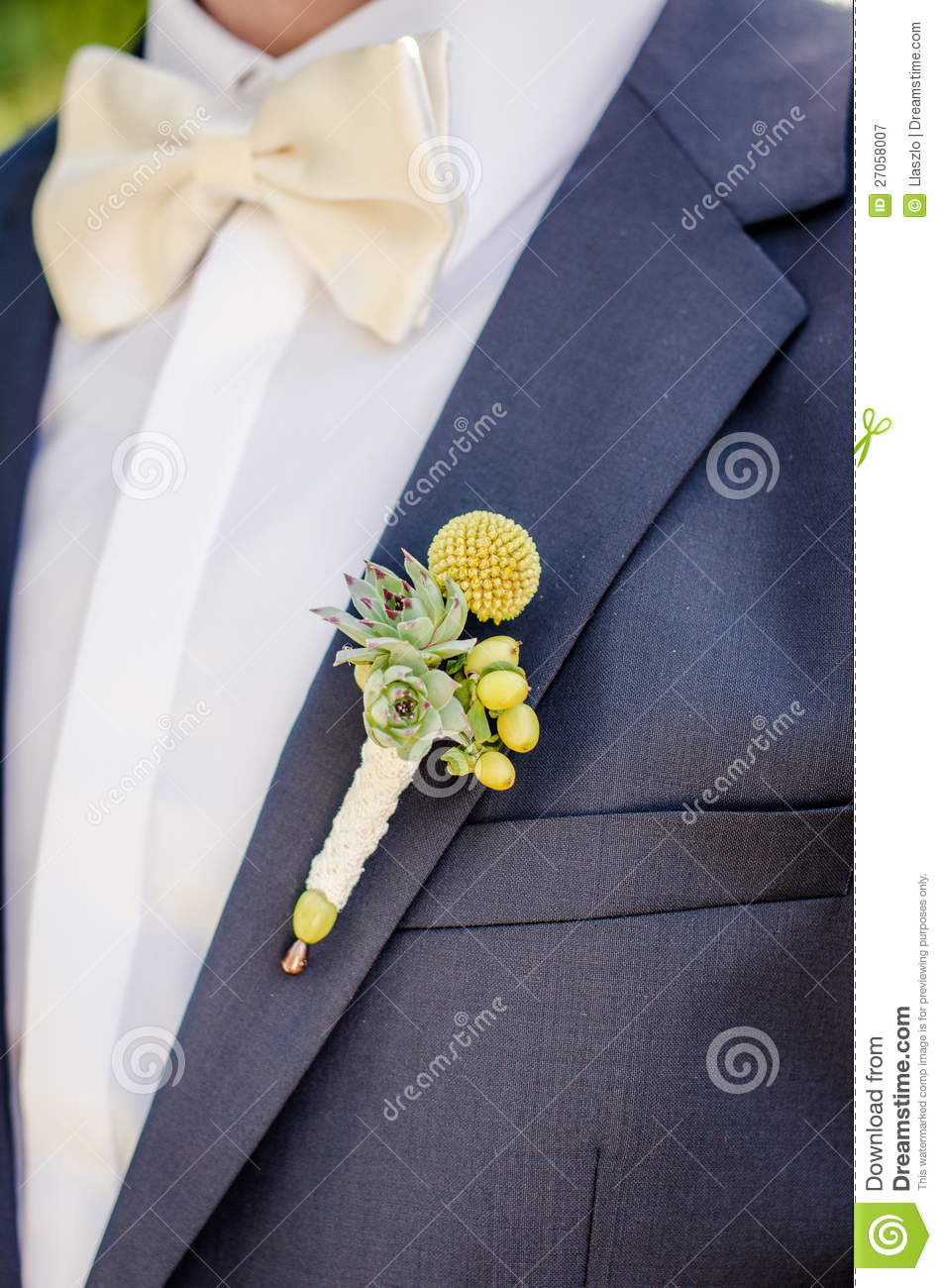 Wedding button hole flower royalty free stock photography for Decoration hole
