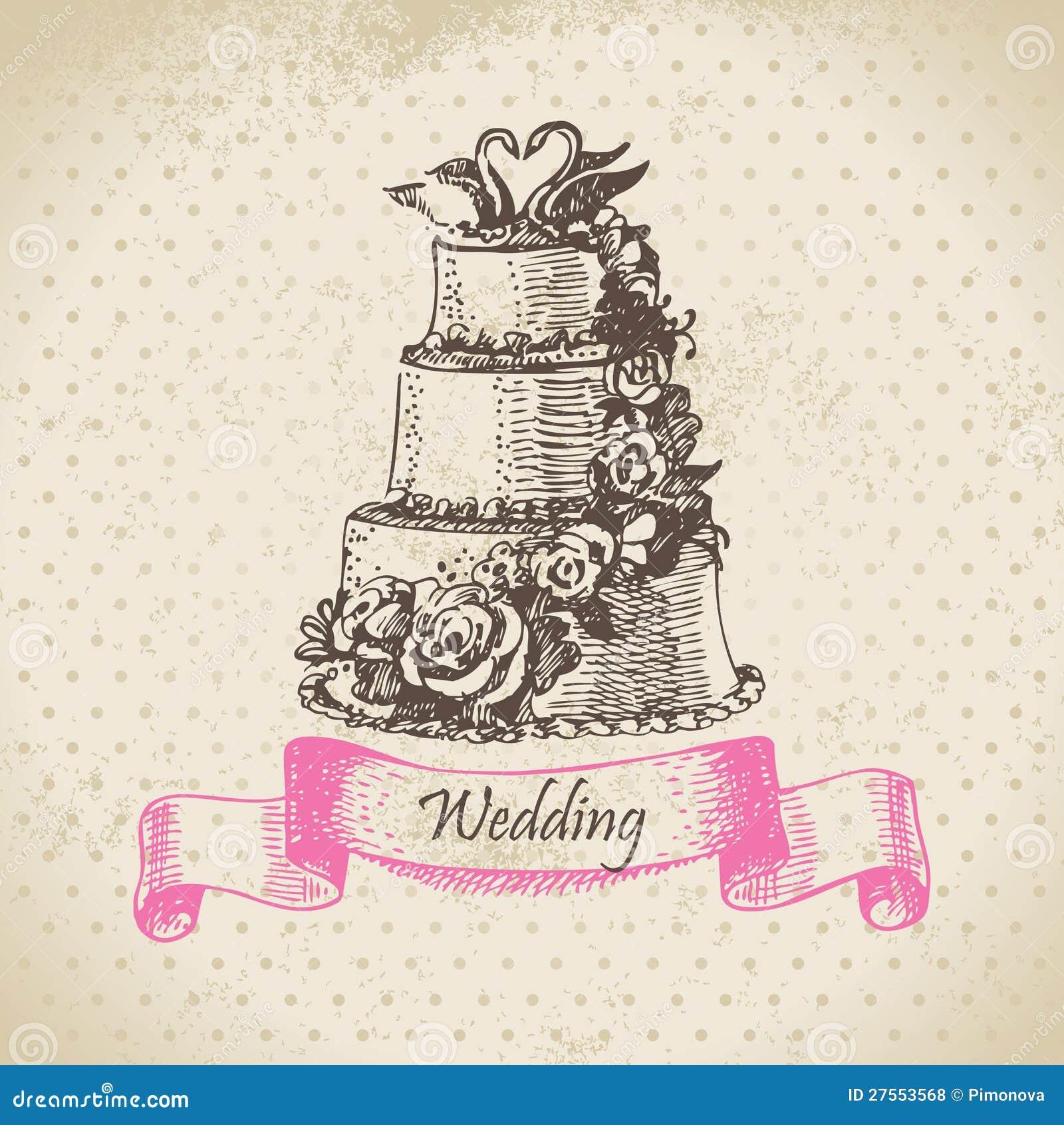 Wedding Cake Stock Vector Illustration Of Swirl Bride 27553568