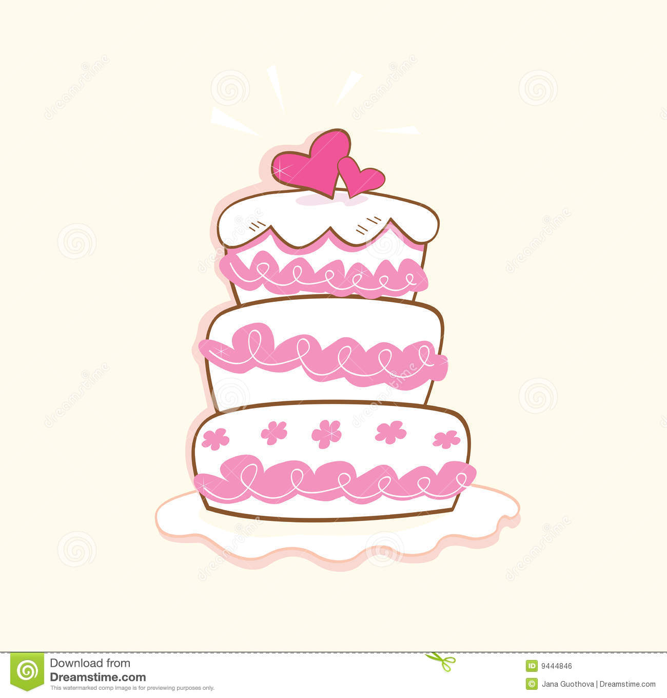Wedding Cake Images Cartoon : Wedding Cake Royalty Free Stock Image - Image: 9444846