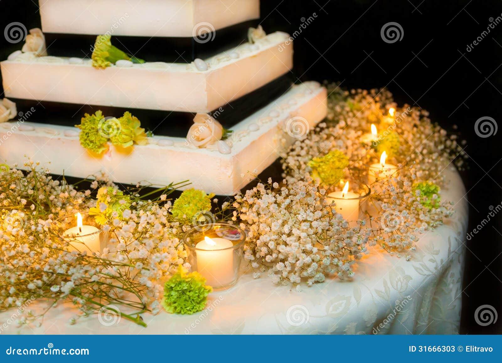 Wedding cake with roses stock image. Image of creativity - 31666303